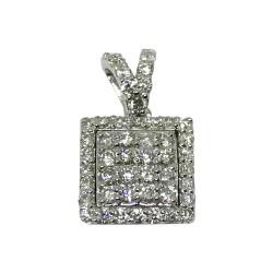 תליון זהב משובץ 51 יהלומים במשקל 0.34 קרט דגם : 4456