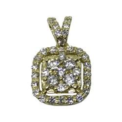 תליון זהב משובץ 40 יהלומים במשקל 0.47 קרט דגם : 1052