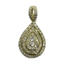 תליון זהב משובץ 73 יהלומים במשקל 0.39 קרט דגם : 569