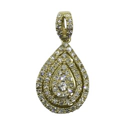 Gold Diamond Pendant 0.39 CT. T.W. Model Number : 569