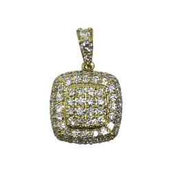 Gold Diamond Pendant 1.18 CT. T.W. Model Number : 1043