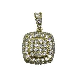 Gold Diamond Pendant 1.18 CT. T.W. Model Number : 1043