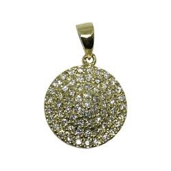 תליון זהב משובץ 64 יהלומים במשקל 0.6 קרט דגם : 1145