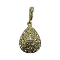 תליון זהב משובץ 59 יהלומים במשקל 0.29 קרט דגם : 1033