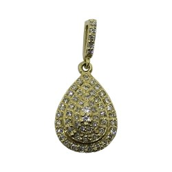 Gold Diamond Pendant 0.29 CT. T.W. Model Number : 1033