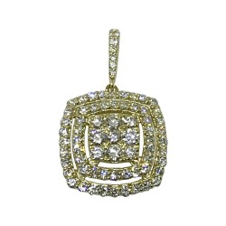 Gold Diamond Pendant 0.98 CT. T.W. Model Number : 1548