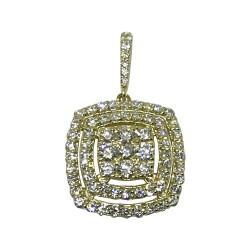 Gold Diamond Pendant 0.98 CT. T.W. Model Number : 1548