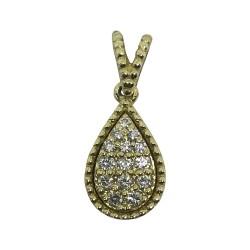 תליון זהב משובץ 14 יהלומים במשקל 0.11 קרט דגם : 1034