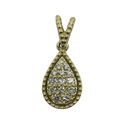 Gold Diamond Pendant 0.11 CT. T.W. Model Number : 1034