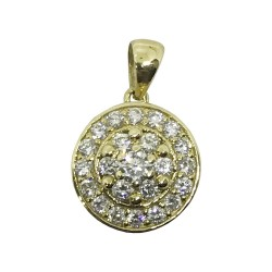 Gold Diamond Pendant 0.52 CT. T.W. Model Number : 1037