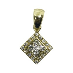Gold Diamond Pendant 0.38 CT. T.W. Model Number : 1038