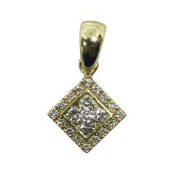 Gold Diamond Pendant 0.38 CT. T.W. Model Number : 1038