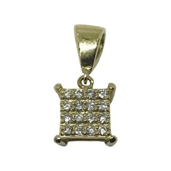 Gold Diamond Pendant 0.13 CT. T.W. Model Number : 1040