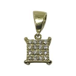 Gold Diamond Pendant 0.13 CT. T.W. Model Number : 1040