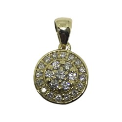Gold Diamond Pendant 0.29 CT. T.W. Model Number : 1035