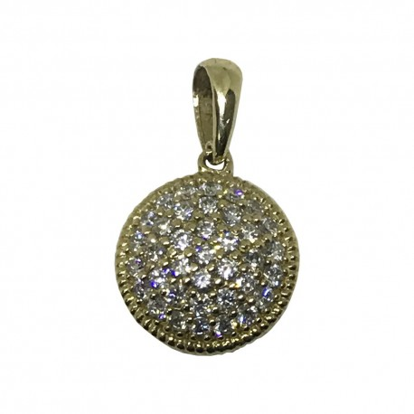 Gold Diamond Pendant 0.46 CT. T.W. Model Number : 1050