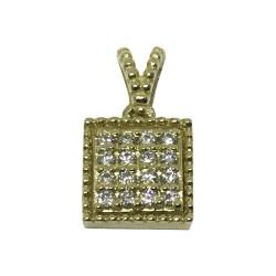 Gold Diamond Pendant 0.12 CT. T.W. Model Number : 1048