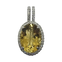 Gold Diamond Pendant 0.77 CT. T.W. Model Number : 565