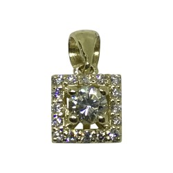 Gold Diamond Pendant 0.27 CT. T.W. Model Number : 1527