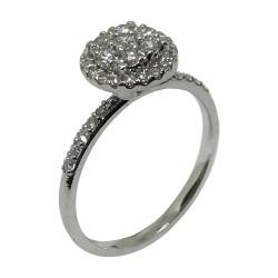 טבעת זהב משובצת 37 יהלומים במשקל 0.51 קרט דגם : 1594