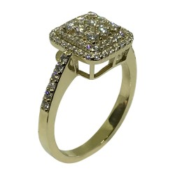 Gold Diamond Ring 0.73 CT. T.W. Model Number : 1604